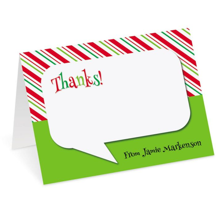 Bubble Personalized Thank You Cards