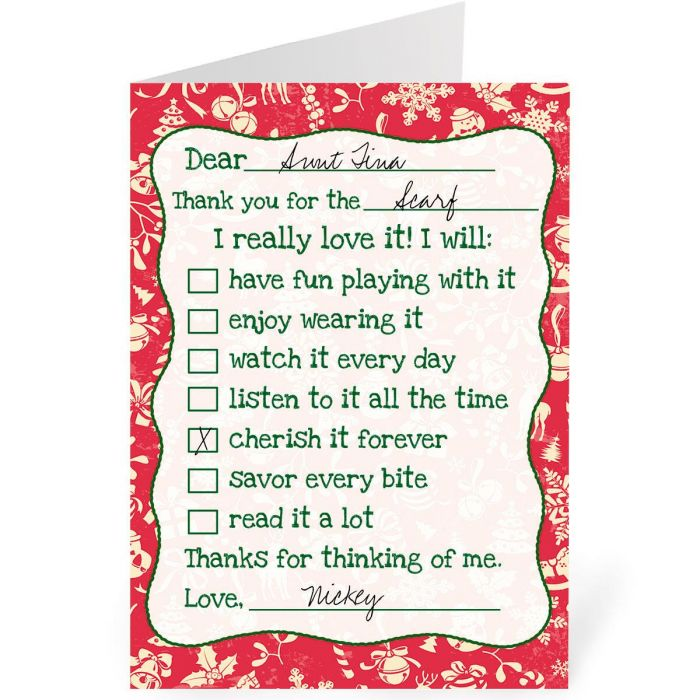 Christmas Thanks Personalized Thank You Cards