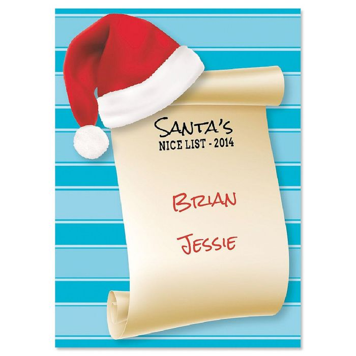 Santa's Nice List Christmas Create-A-Card