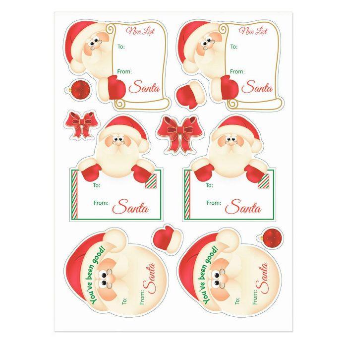 Santa Stickers - BOGO