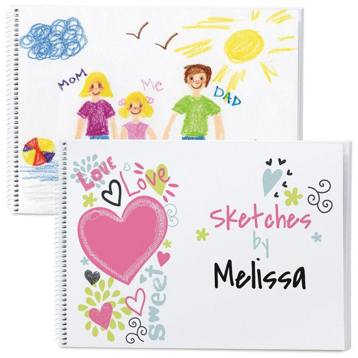 Doodle Town Personalized Sketchbook