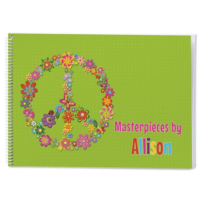 Peace Sign Personalized Sketchbook