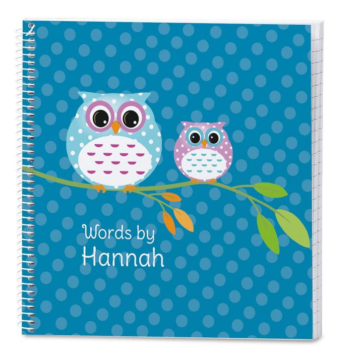 Owl Lined Personalized Journal