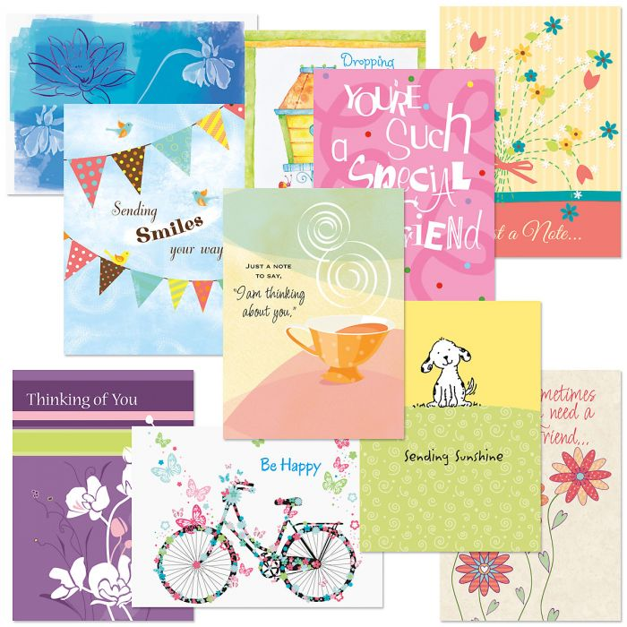 Bright Moments Thinking of You Greeting Cards Value Pack