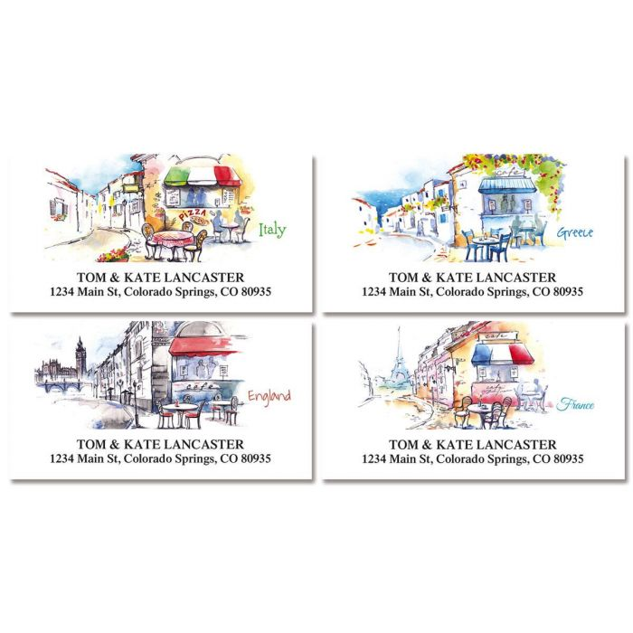 Tranquil Europe Address Labels