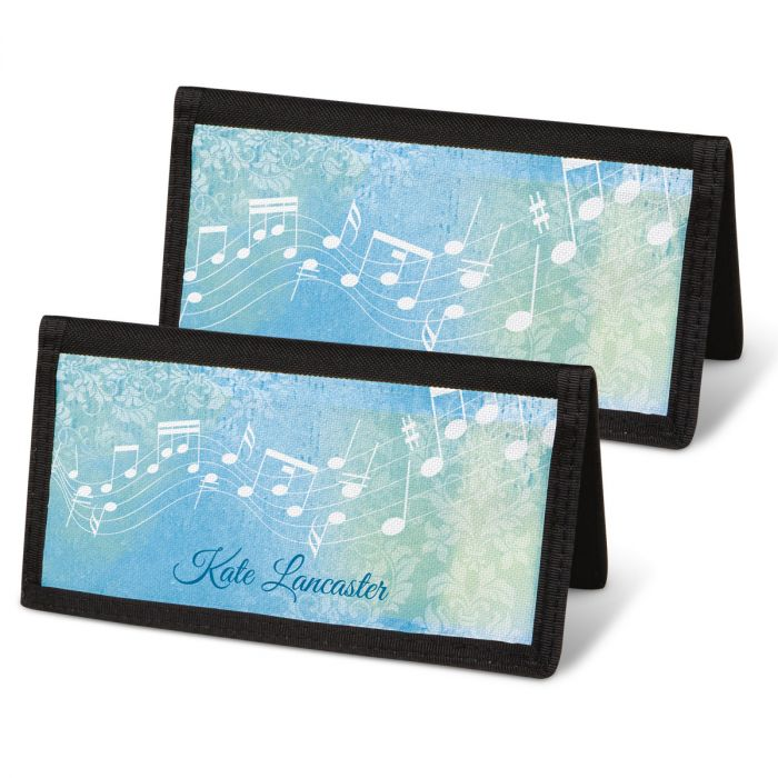 Floral Notes Checkbook Covers