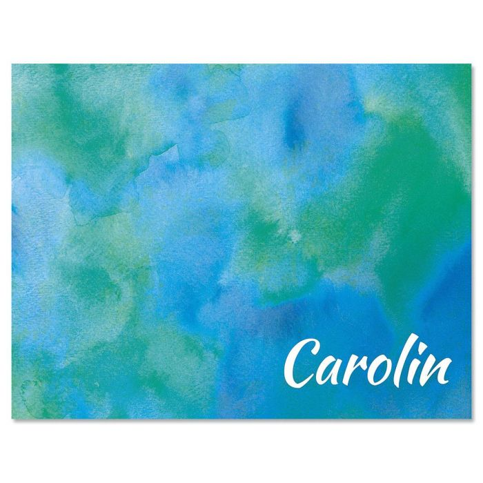 Blue Hue Personalized Note Cards