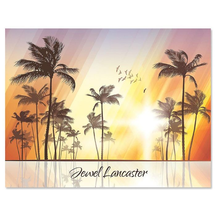 Tropics Personalized Note Cards