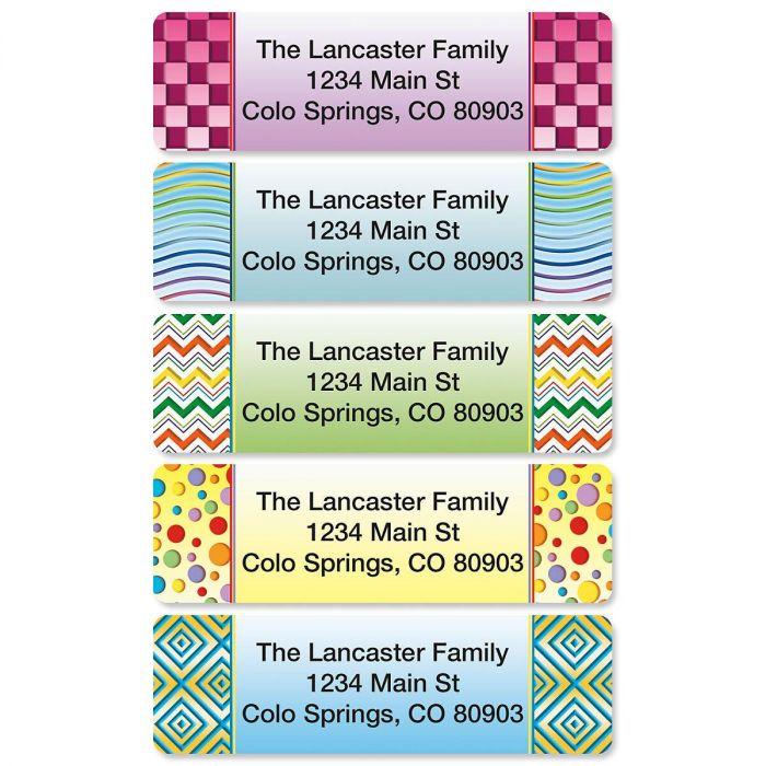 Vivid Rolled Address Labels  (5 designs)