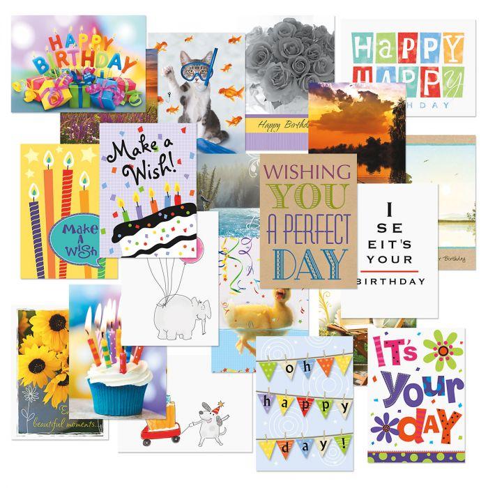 Mega Birthday Cards Value Pack - Set of 40