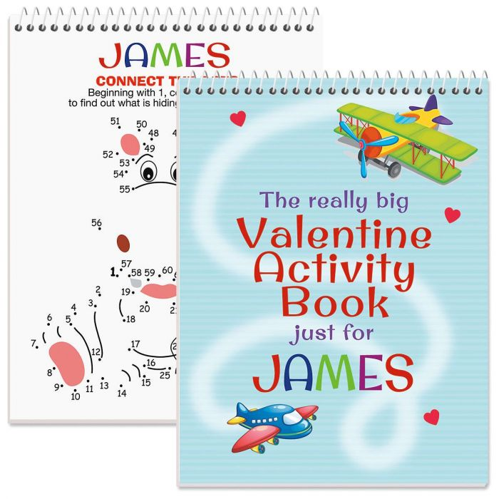 Personalized Really Big Valentine Activity Book
