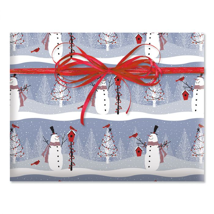 Winter Visitor Jumbo Rolled Gift Wrap