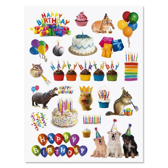 Birthday Stickers - BOGO