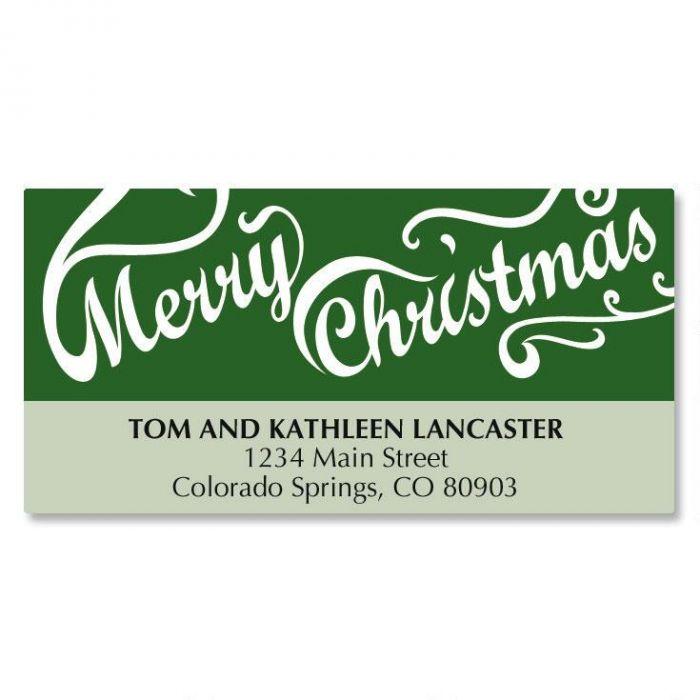 Christmas Script Matching Labels