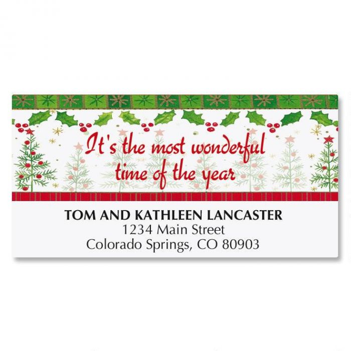Whimsy Trees Deluxe Address Labels