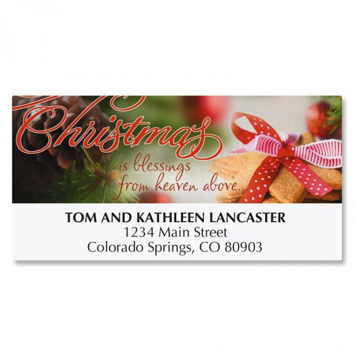 Christmas Cookies Deluxe Address Labels