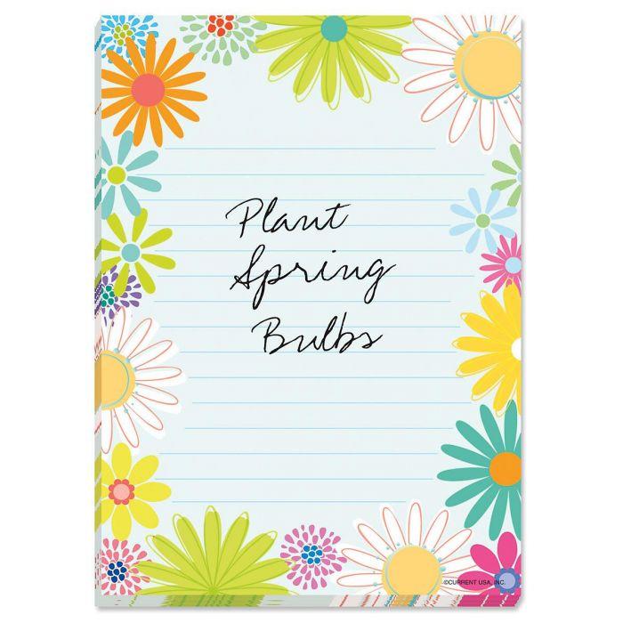 Spring Daisy Lined Notepad - BOGO