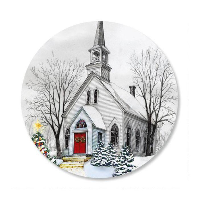 Country Church Envelope Sticker Seals