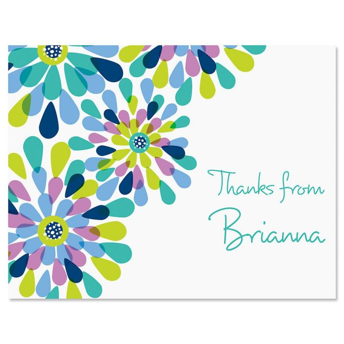 Fresh Blooms Personalized Thank You Cards