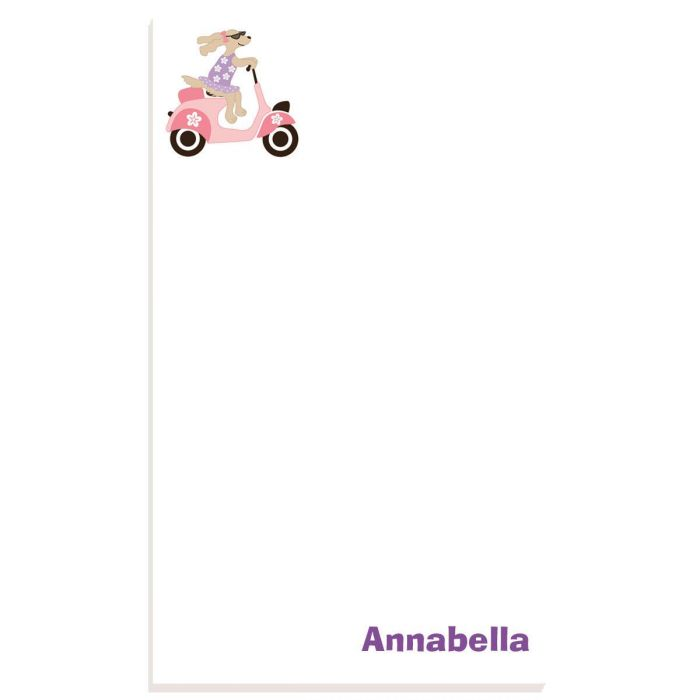 Pink Scooter Personalized Notepads