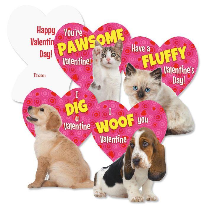 Kitten & Puppy Valentines