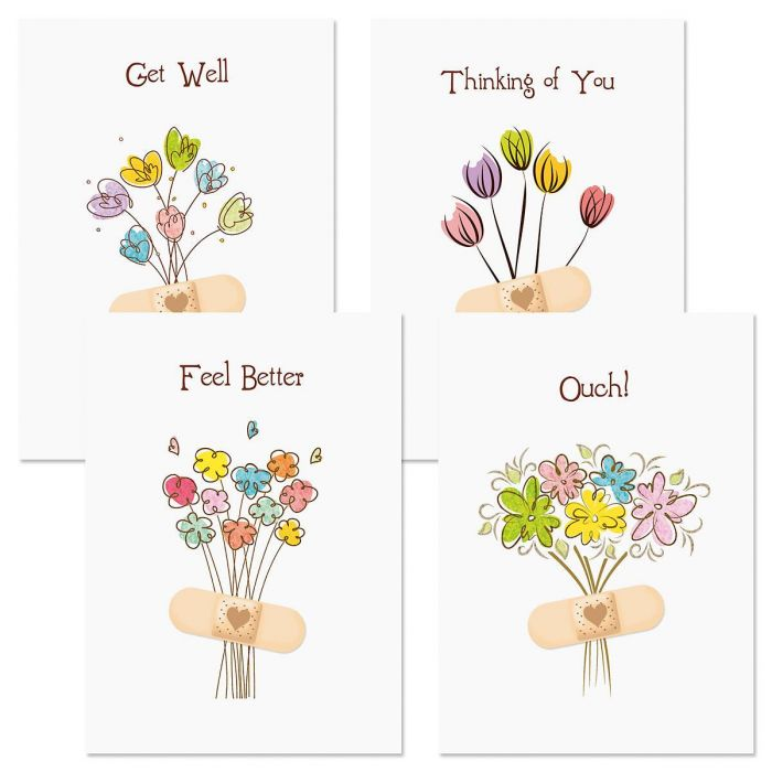 Bandaged Get Well Cards & Seals
