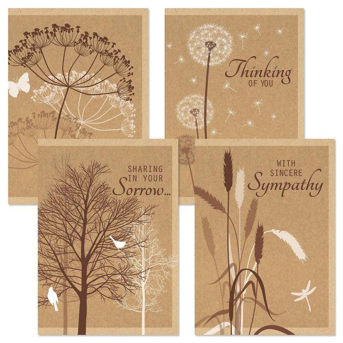 Kraft Sympathy Greeting Cards