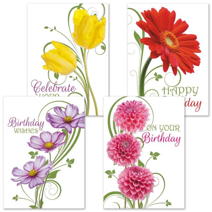 Floral Whispers Birthday Cards
