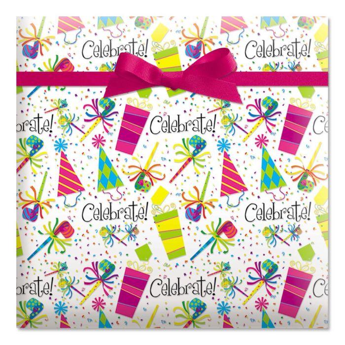 Celebrate Jumbo Rolled Gift Wrap