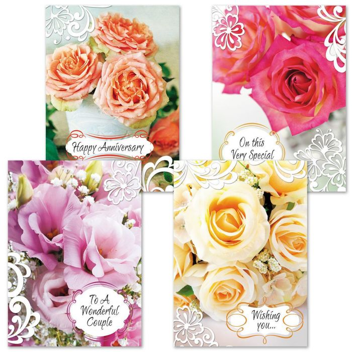 Roses and Lace Anniversary Cards