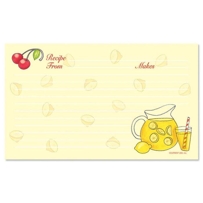 Summer Recipe Cards - 3 x 5