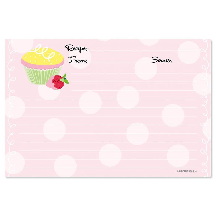 Cupcake Recipe Cards - 4 x 6