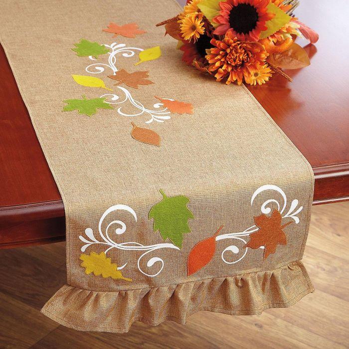 Rustic Autumn Table Runner