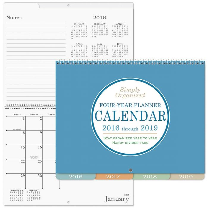 2016-2019 Four Year Diary Calendar