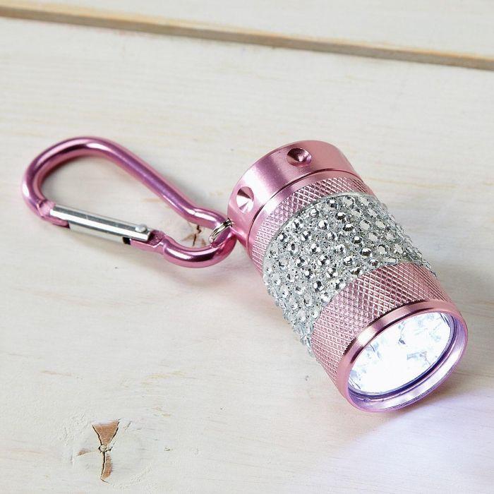Pink Clip Bling Flashlight