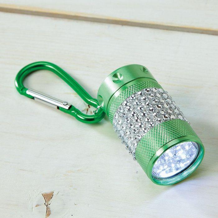 Green Clip Bling Flashlight