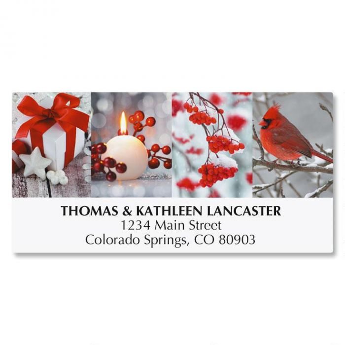 Holiday Collage Address Labels