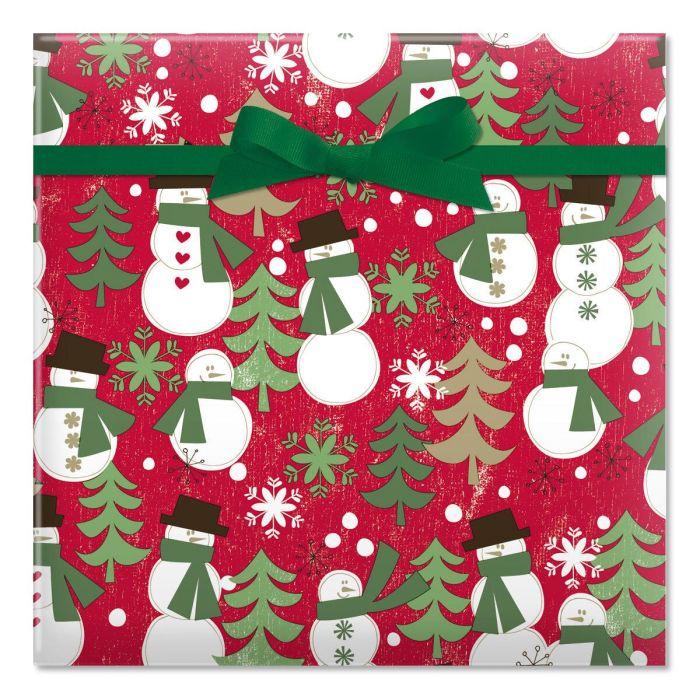 Woodland Snowmen Jumbo Rolled Gift Wrap | Current Catalog