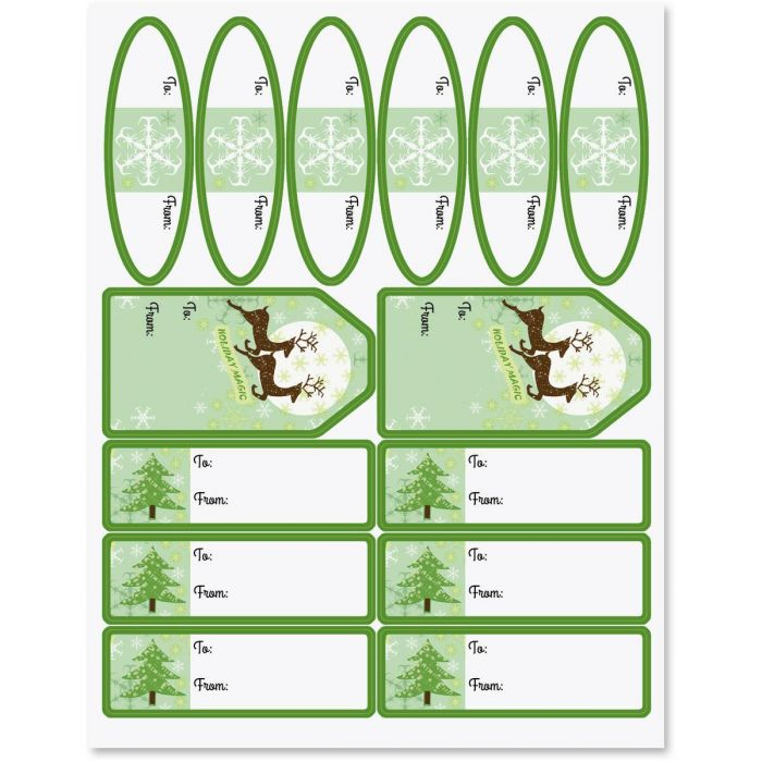 Reindeer Holiday Magic Labels
