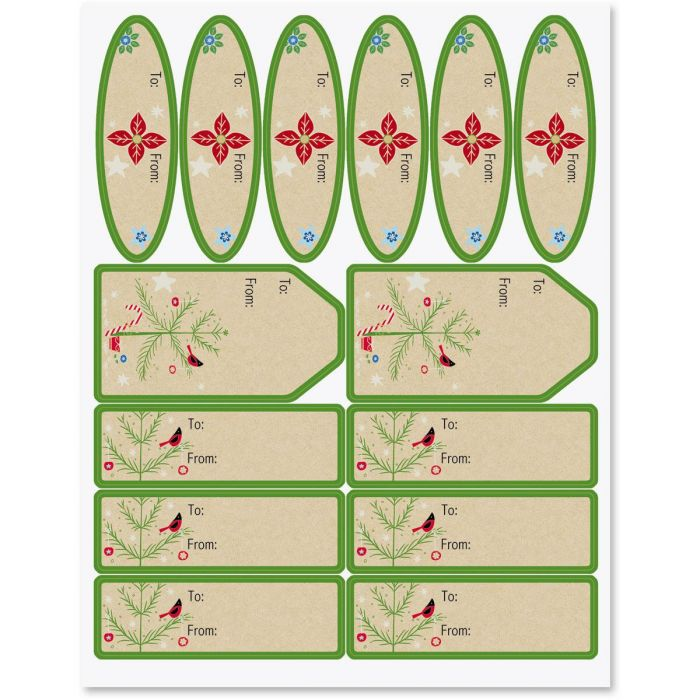 Twinkling Trees Labels