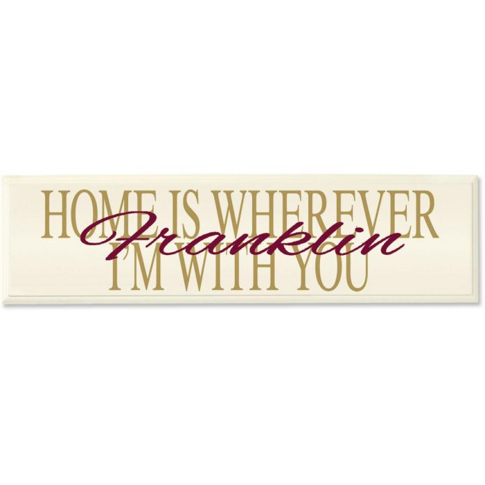 Home is Where... Personalized Wall Plaque