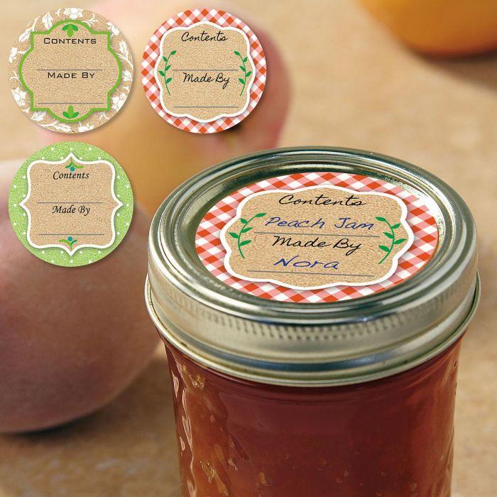 Kraft Canning Jar Labels