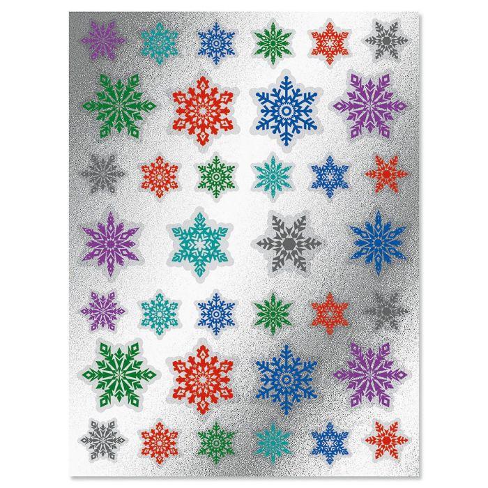 Foil Snowflake Seals - BOGO