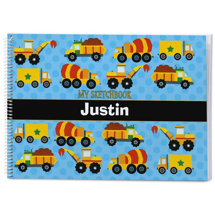 Construction Personalized Sketchbook