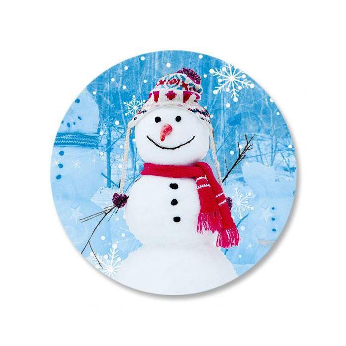 Snowman Trio Envelope Sticker Seals