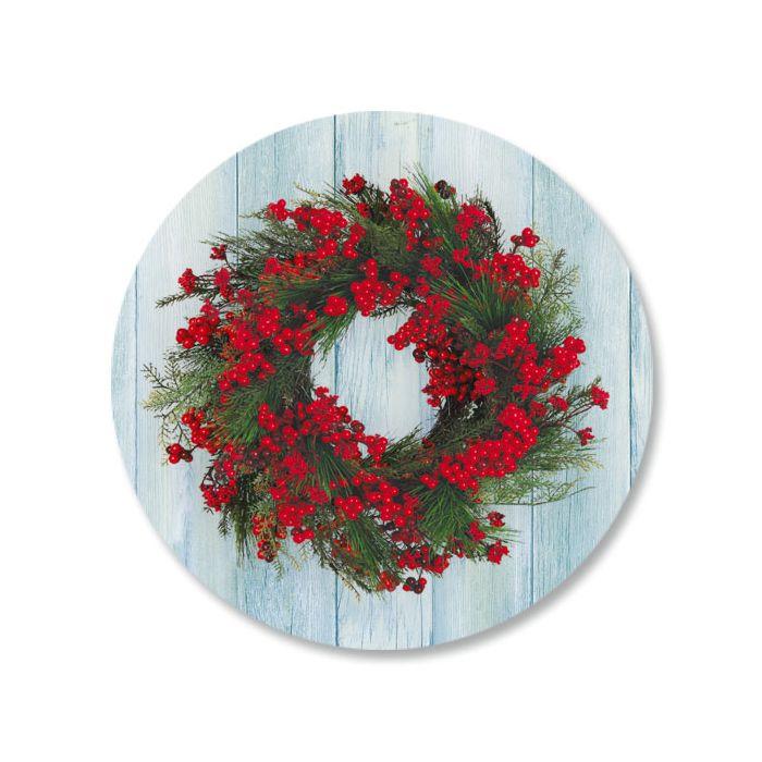 Wreath Envelope Sticker Seals