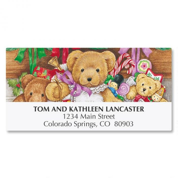 Stocking Bears Address Labels