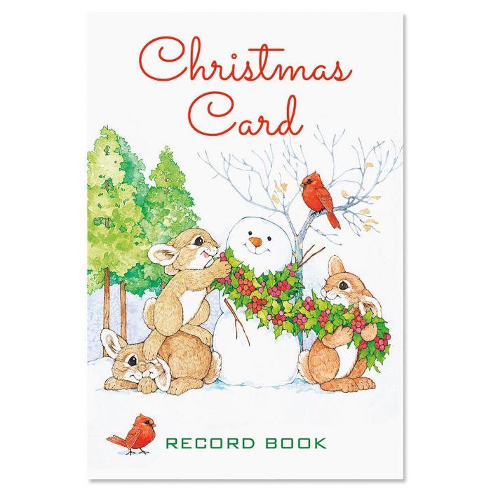 Snowman & Bunnies Christmas Record Book