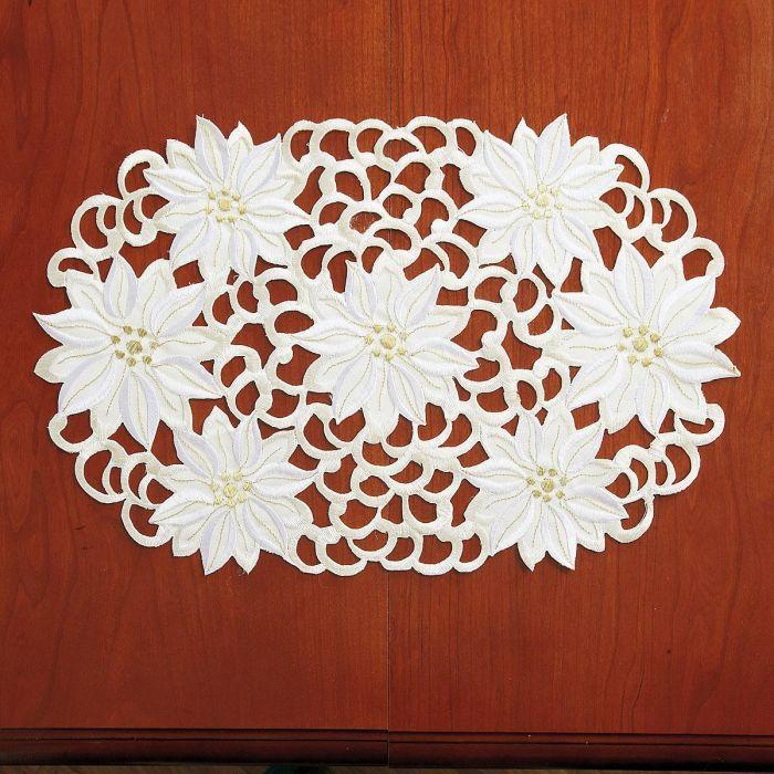 Cream Poinsettia Placemats