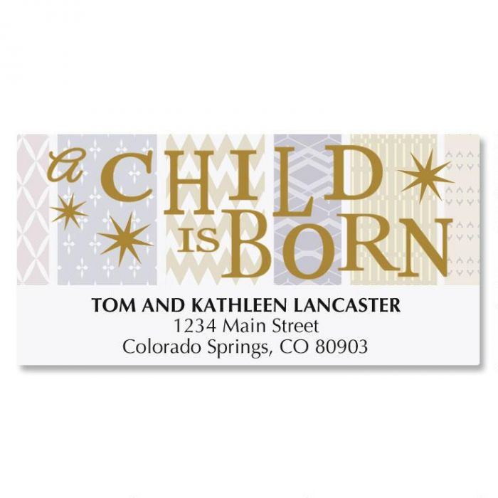 Star Christmas Address Labels